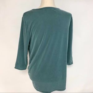 Green Envelope Tops - Green Envelope Green Knot Top, Size Small. NWT